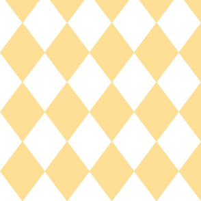Buttercup Yellow Diamond Pattern