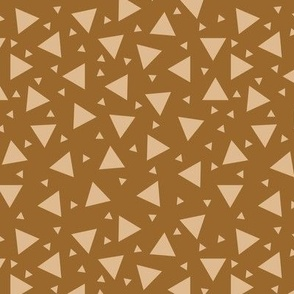 Tan Triangles On Brown