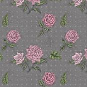 Tea Roses on Charcoal