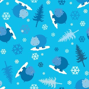 Hippo Holidays in Blue Scatter
