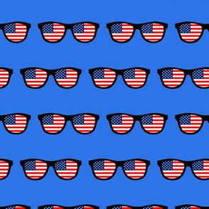 patriotic sunglasses on blue