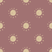 Polka Dot Suns - Mauve Background