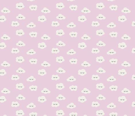 Candy rainbow plain sleepy clouds fabric by erin__kendal on Spoonflower - custom fabric