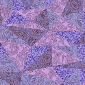 Patchwork Paisley - Lilac