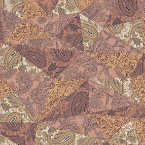 Patchwork Paisley - Dusty Red