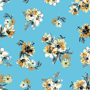 Fiona Floral - Light Blue