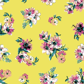 Fiona Floral - Yellow
