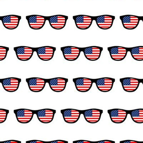 patriotic sunglasses white