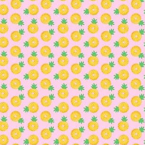 (micro scale) Pineapple donuts - doughnuts - summer - pink  - LAD19BS