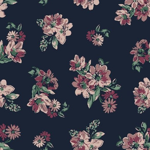 Fiona Floral - Navy
