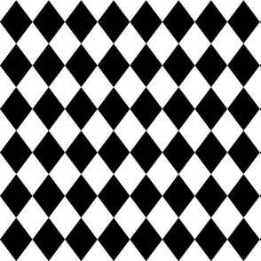 Black and White Small Modern Diamond Pattern