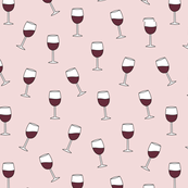 It's the weekend red wine glasses party drinks girls merlot pinot noir pink