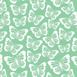 butterflies with Green background