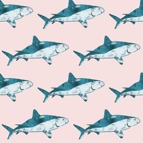 Happy textured cute shark