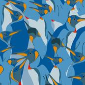 Blue penguin crowd
