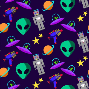 Alien Paint By Numbers