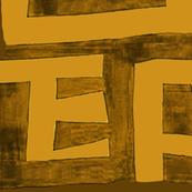 African Map - Rust Design 54x54