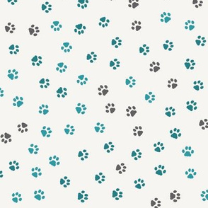 Paw Prints of Fitness Cats teal