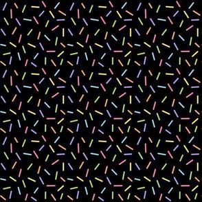 Sprinkles Rainbow on Black