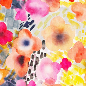 Watercolour abstract floral