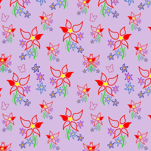 Daisy Delight - purple