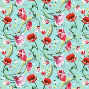 tulips + magnolia