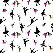 Dancing Ballerinas #2 black on white