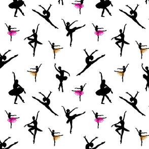 Dancing Ballerinas #3 black on white