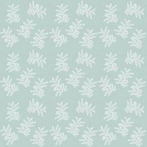 DelicateFern Pale Vintage Blue Green Grey