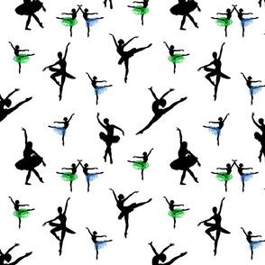 Dancing Ballerinas #5  black on white