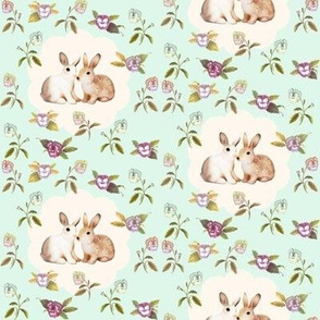 Bunnies in Love_NEW Palest Mint