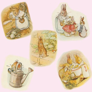 Peter Rabbit with Pink Background