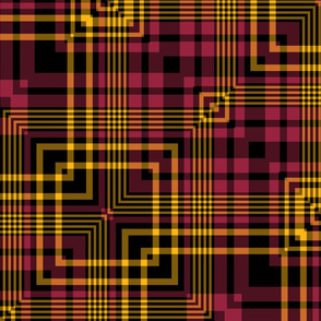 The Black the Yellow and the Red_Squares in the Plaid