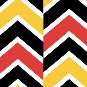 Red orange yellow Black Chevron