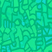 Tribal Fields Mosaic - Chartreuse
