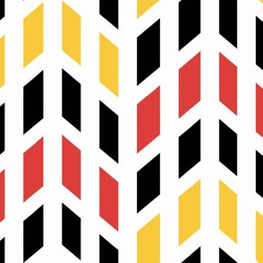 Red Orange Yellow Black White Chevron
