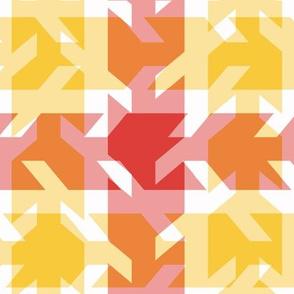 Red Yellow Orange Plaid Pattern