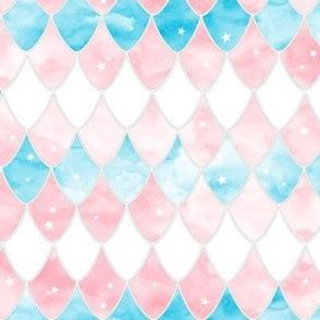 Dragon scales - pink, blue, white, trans colours