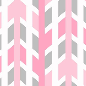 Pink Gray Grey Arrow Chevron