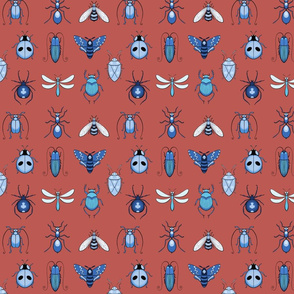 Ugly Bugs with Clay Red Background