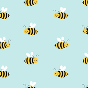 Just Bees on blue