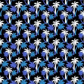blue palms on black 4x4
