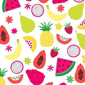 Tutti Frutti Colorful Tropical Fruit - Large