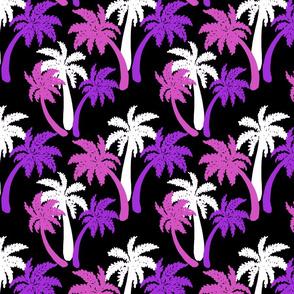 pink palms on black