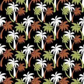 brown palms on black 6x6