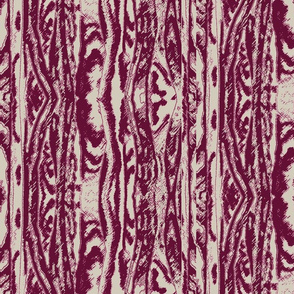 Flowing Totem #2 Cranberry on Taupe