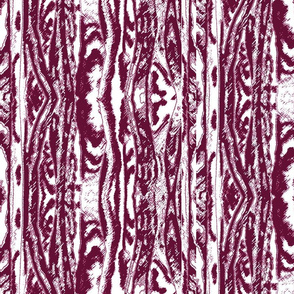 Flowing Totem #2 Cranberry on White