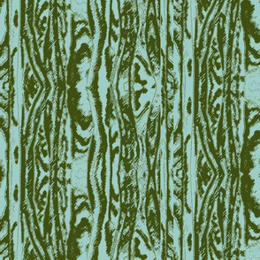 Flowing Totem #2 Olive on Aqua