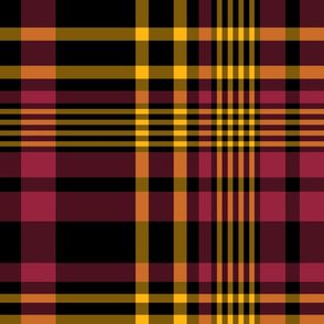 The Black the Yellow and the Red: Large Plaid