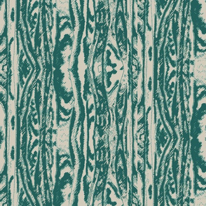 Flowing Totem #2 Teal on Taupe